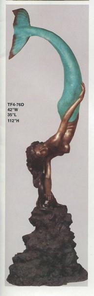 Bronze Mermaid Statues - ASI TF4-76D-S