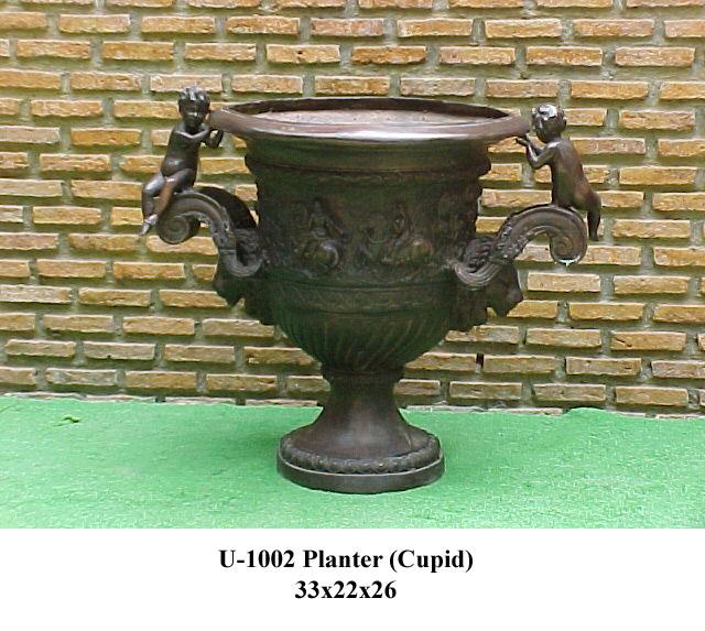 Bronze Cupid Urns - PA U-1002