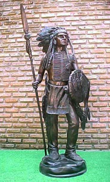 Bronze Indian Warrior Statues