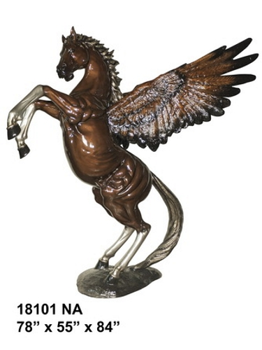 Bronze Rearing Pegasus Statue - AF 18101NA