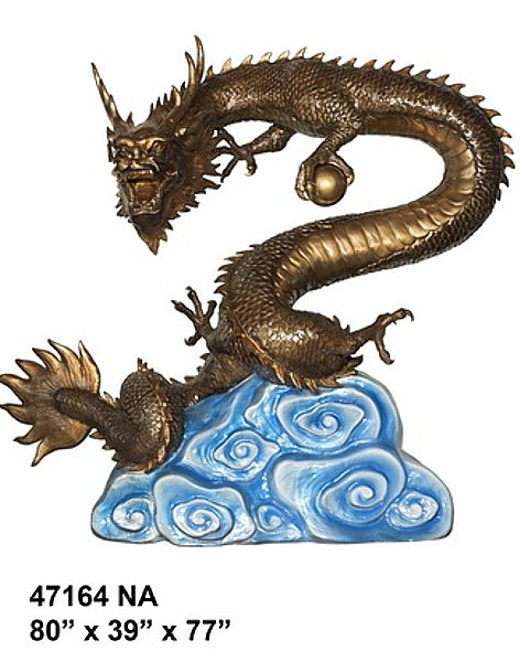 Bronze Dragon Fountains - AF 47164NA-F