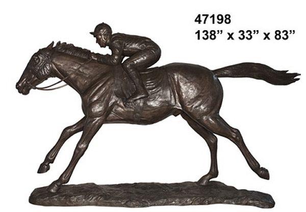 Bronze Race Horse Statues