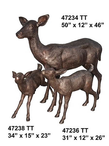 Bronze Deer Family Statues (2019 Prices)