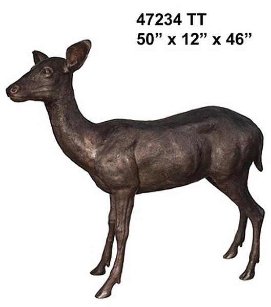 Bronze Doe Statue - AF 47234TT