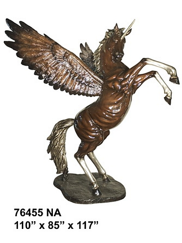 Bronze Unicorn Statues - AF 76455NA