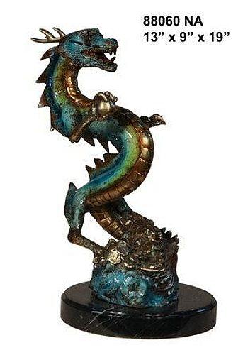 Bronze Dragon Statue - AF 88060-S