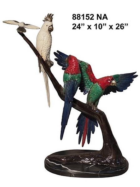 Bronze Exotic Birds Statue - AF 88152NA