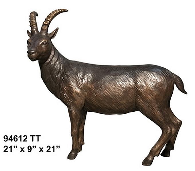 Bronze Goat Statue - AF 94612TT