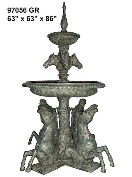 Bronze Horse Fountains - AF 97056GR