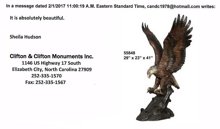 **Bronze Eagle Statues** Referral - AF 55848TS-R