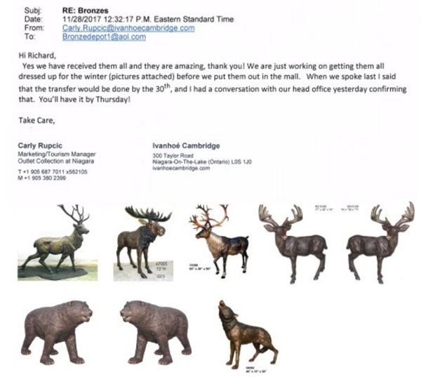 """**Bronze Wolf Statues** Outlet Collection Mall Reference """"They are Amazing"""""""
