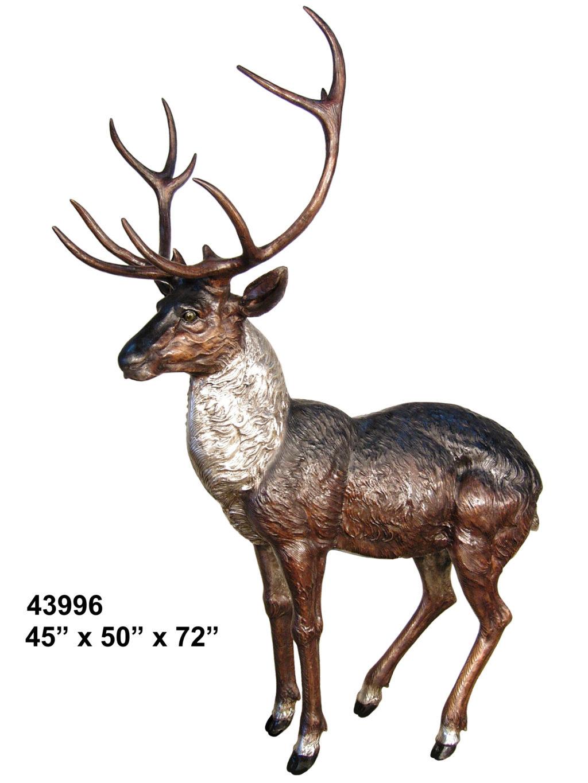 Buck Deer Bronze Statue - AF 43996