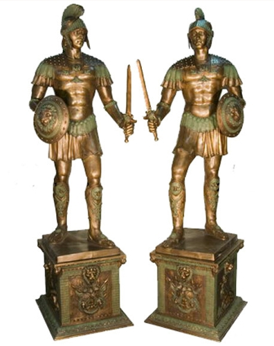 Bronze Spartan Statue - AF 52749