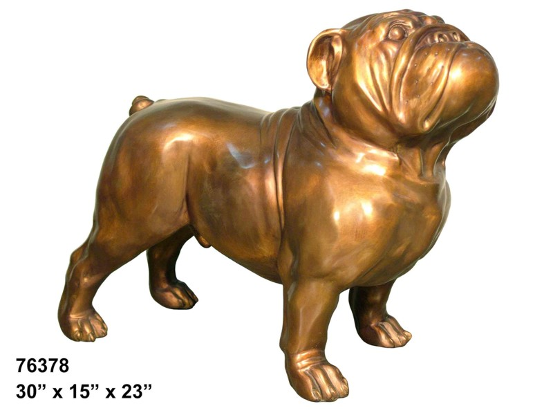 Bronze Bulldog Mascot Statue - AF 76378
