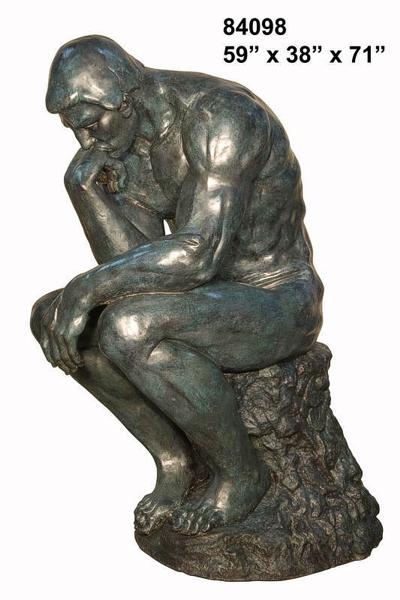 Bronze Thinker Statue - AF 84098