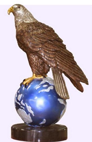 Bronze Eagle Statues - BB 454-3
