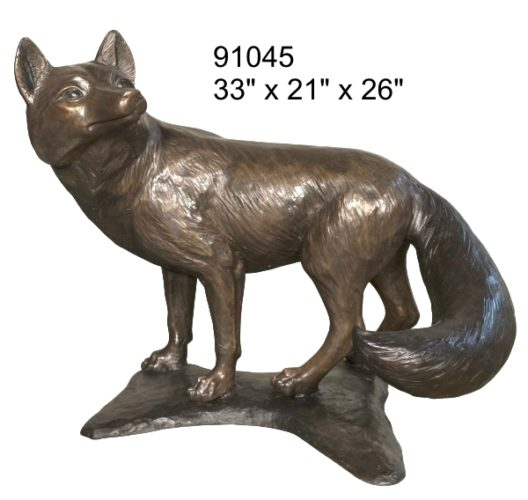 Bronze Fox Statue - AF 91045