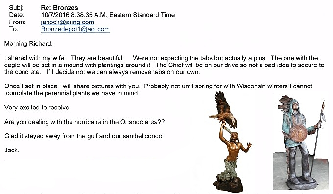 Bronze Indian Chief Statues Referral - AF 52395 BL-R2