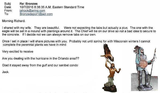 Bronze Indian Warrior Statues Referral - AF 28710-R