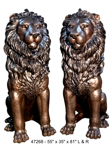 Huge Lion Statues on Bronze-Depot.Com