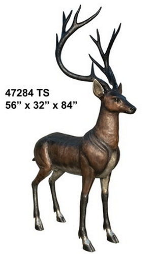Bronze Buck Deer Statue - AF 47284 TS