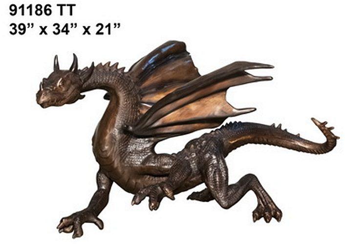 Bronze Dragon Statues - AF 91186 TT