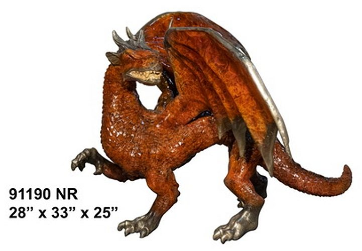 Bronze Dragon Sculptures - AF 91190 NA