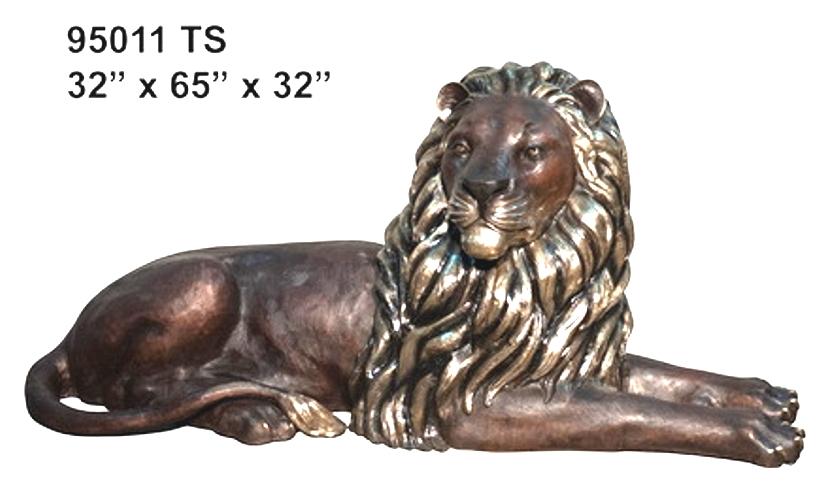 Bronze Lion Statues - AF 95012