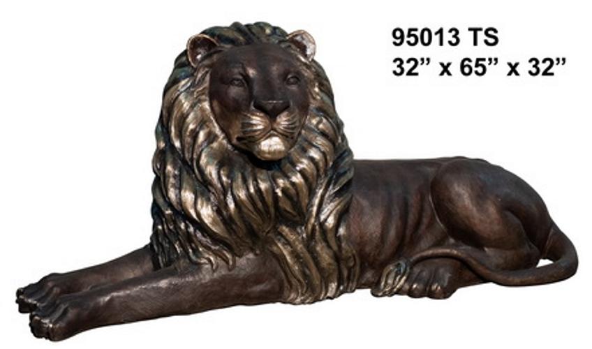 Bronze Lion Statues - AF 95011TSR