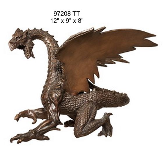 Bronze Dragon Sculptures