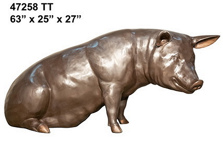 Bronze Pig Statue - AF 47258 TT