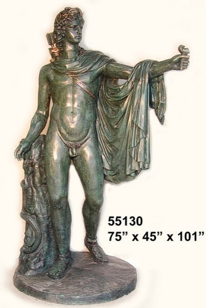 Bronze Greek God Statue - AF 55130- S