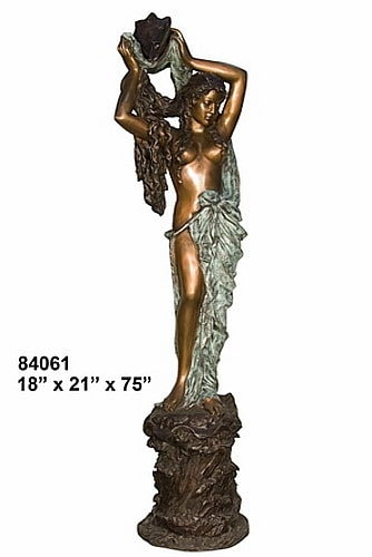 Bronze Lady Shell Statues - AF 84061-S