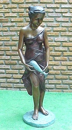 Bronze Lady Fountain - PA F-1006A