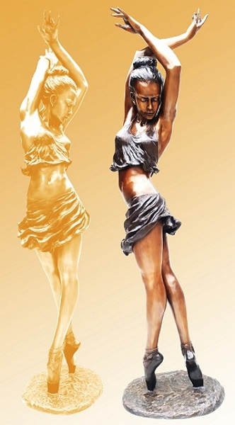 Bronze Ballerina Statue - KT P-920