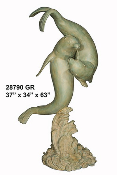 Bronze Seal Statues - AF 28790GR-S
