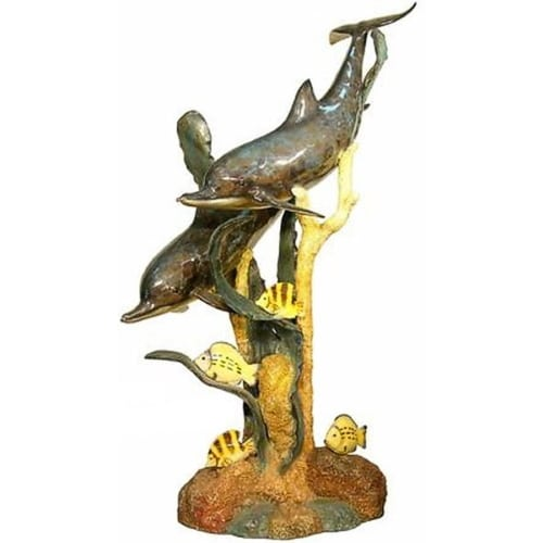 Bronze Dolphins on Reef Fountain - AF 50185NB