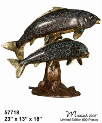 Bronze Fish Fountains - AF 57718