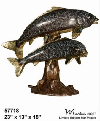 Bronze Fish Statues - AF 57718-S