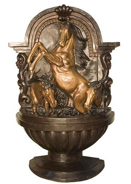 Bronze Horse Wall Fountain - AF 28952B