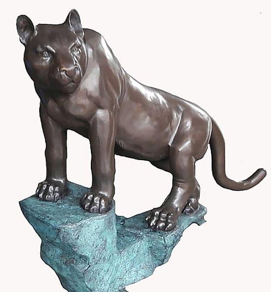 Bronze Puma Statues - AF 28995