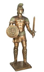 Bronze Warrior Statues School Mascot