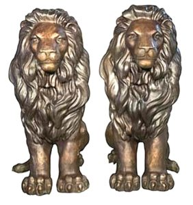 Bronze Lion Mascot Statues