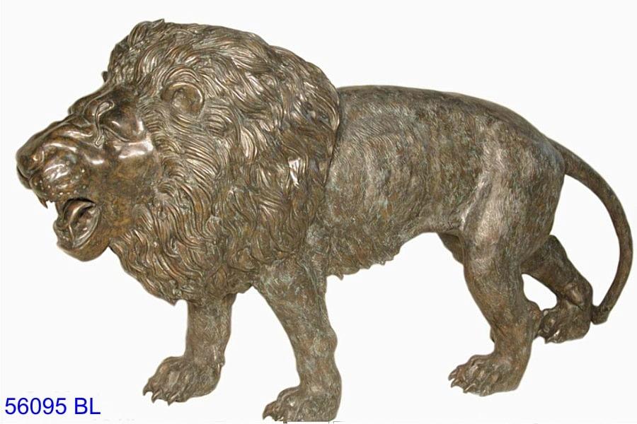 Bronze Lion Statues - AF 56095 BL