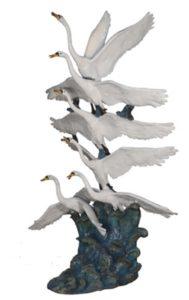 Bronze Swan Fountains