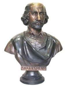 Bronze Shakespeare Bust