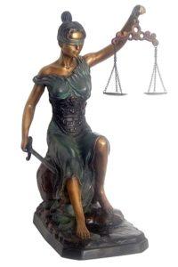 Bronze Blind Justice Statue