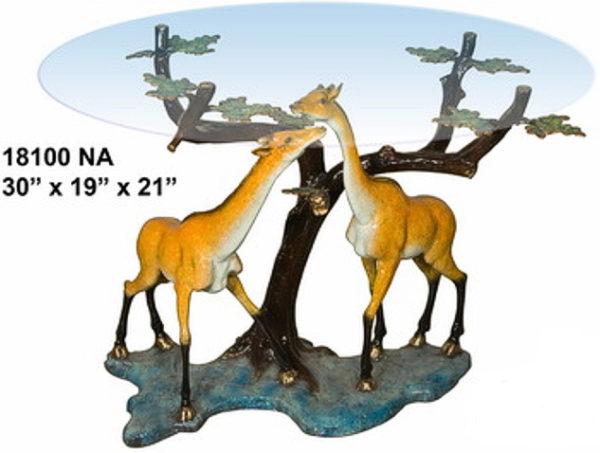 Bronze Giraffe Table