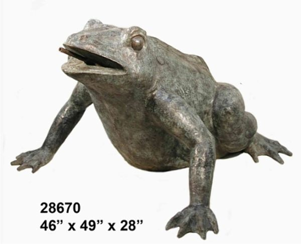 Bronze Frog Fountains