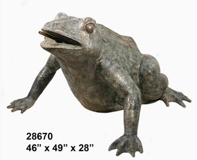 Bronze Frog Statues - AF 28670-S